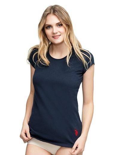 U.S. Polo Assn. Yuvarlak Yaka T-Shirt Lacivert
